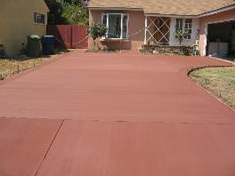 Concrete driveway work in Los Angeles