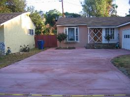 Concrete driveway in Orange County
